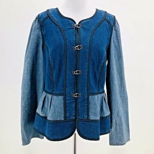 Daughters Of The Liberation Denim Peplum Jacket 8